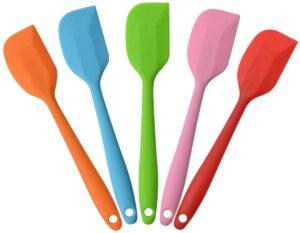 a set of 5 mini silicone spatulas